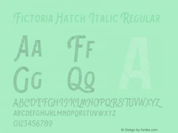 Fictoria Hatch Italic