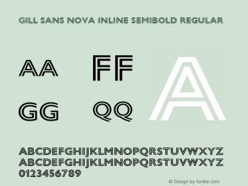 Gill Sans Nova Inline SemiBold