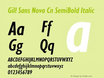 Gill Sans Nova Cn SemiBold