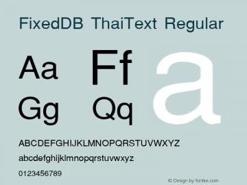 FixedDB ThaiText
