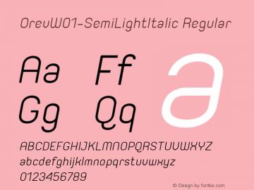Orev-SemiLightItalic