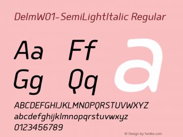 Delm-SemiLightItalic