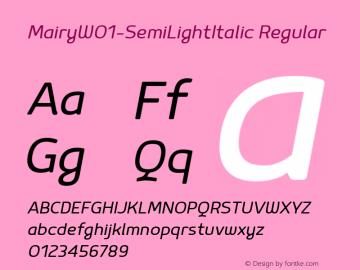 Mairy-SemiLightItalic