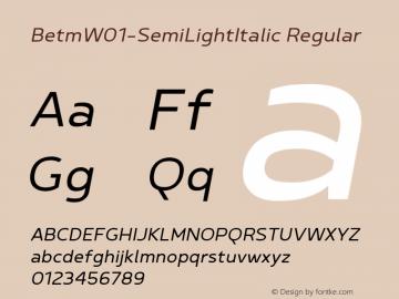 Betm-SemiLightItalic