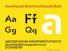 AnoStencil-Bold