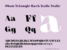 Oban Triangle Back Italic