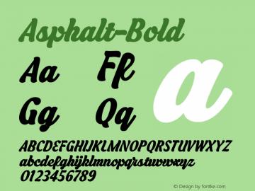 Asphalt-Bold