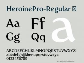 HeroinePro-Regular