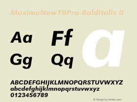 MaximaNowTBPro-BoldItalic