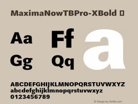 MaximaNowTBPro-XBold
