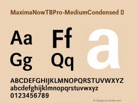 MaximaNowTBPro-MediumCondensed