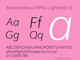 MaximaNowTBPro-LightItalic