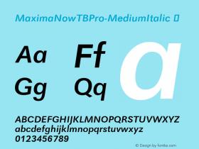 MaximaNowTBPro-MediumItalic
