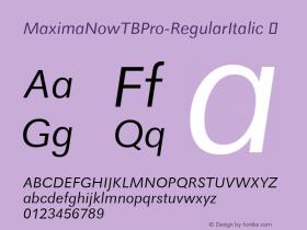 MaximaNowTBPro-RegularItalic