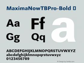 MaximaNowTBPro-Bold