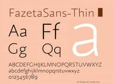 FazetaSans-Thin