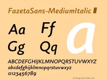 FazetaSans-MediumItalic