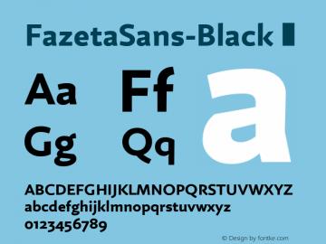 FazetaSans-Black
