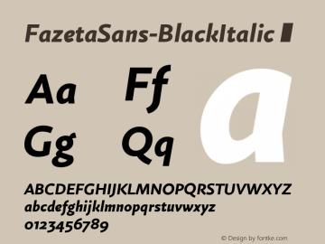 FazetaSans-BlackItalic