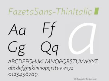 FazetaSans-ThinItalic