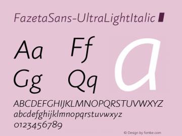 FazetaSans-UltraLightItalic