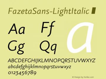 FazetaSans-LightItalic