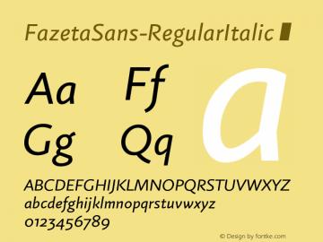 FazetaSans-RegularItalic