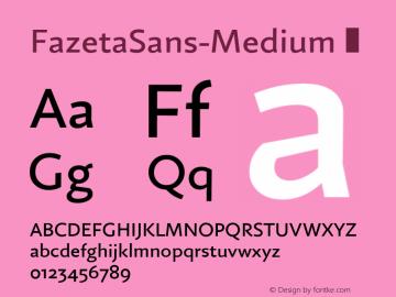 FazetaSans-Medium