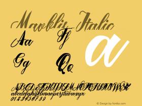 Mavblis-Italic