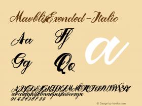 MavblisExended-Italic
