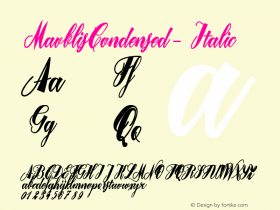 MavblisCondensed-Italic