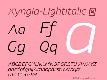 Xyngia-LightItalic