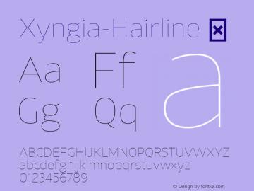 Xyngia-Hairline