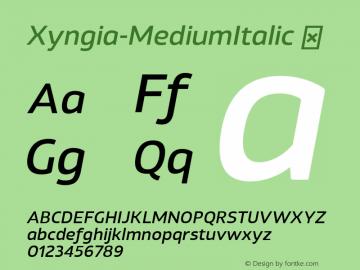 Xyngia-MediumItalic