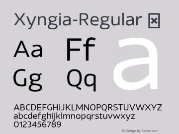 Xyngia-Regular