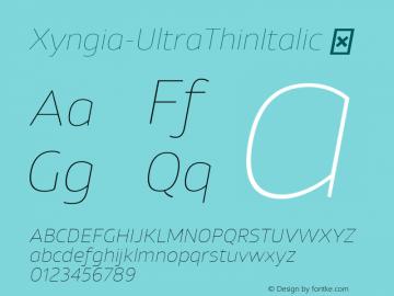 Xyngia-UltraThinItalic
