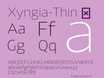 Xyngia-Thin