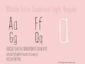 Mibelle Extra Condensed Light