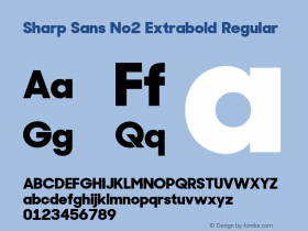 Sharp Sans No2 Extrabold
