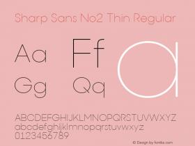 Sharp Sans No2 Thin