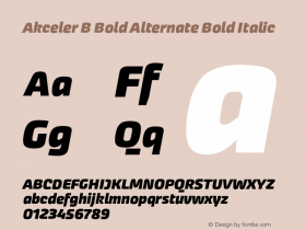 Akceler B Bold Alternate