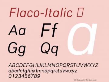 Flaco-Italic