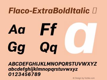 Flaco-ExtraBoldItalic