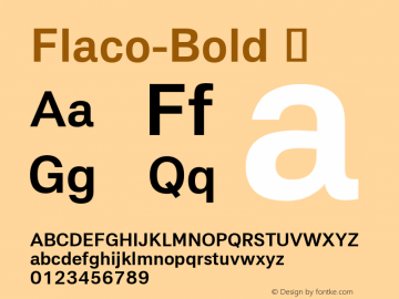 Flaco-Bold