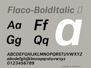Flaco-BoldItalic