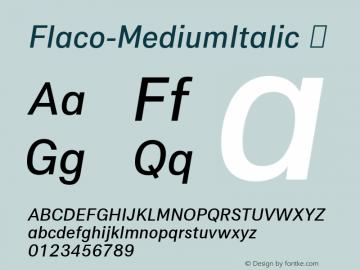 Flaco-MediumItalic