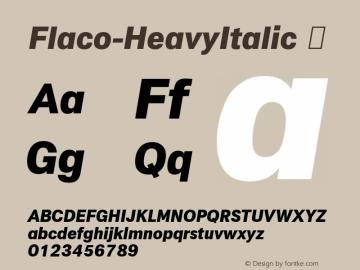 Flaco-HeavyItalic