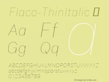 Flaco-ThinItalic