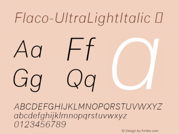 Flaco-UltraLightItalic