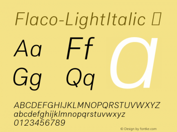 Flaco-LightItalic